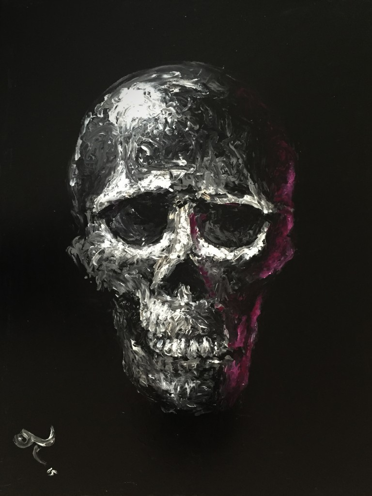 Skull 2015 Acrylic on canvas 100cm x 120cm