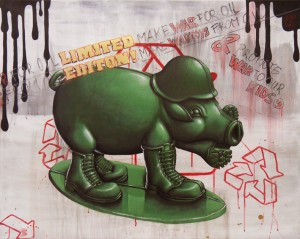 WarToy Pig - arylic on canvas 100 x 80 cm