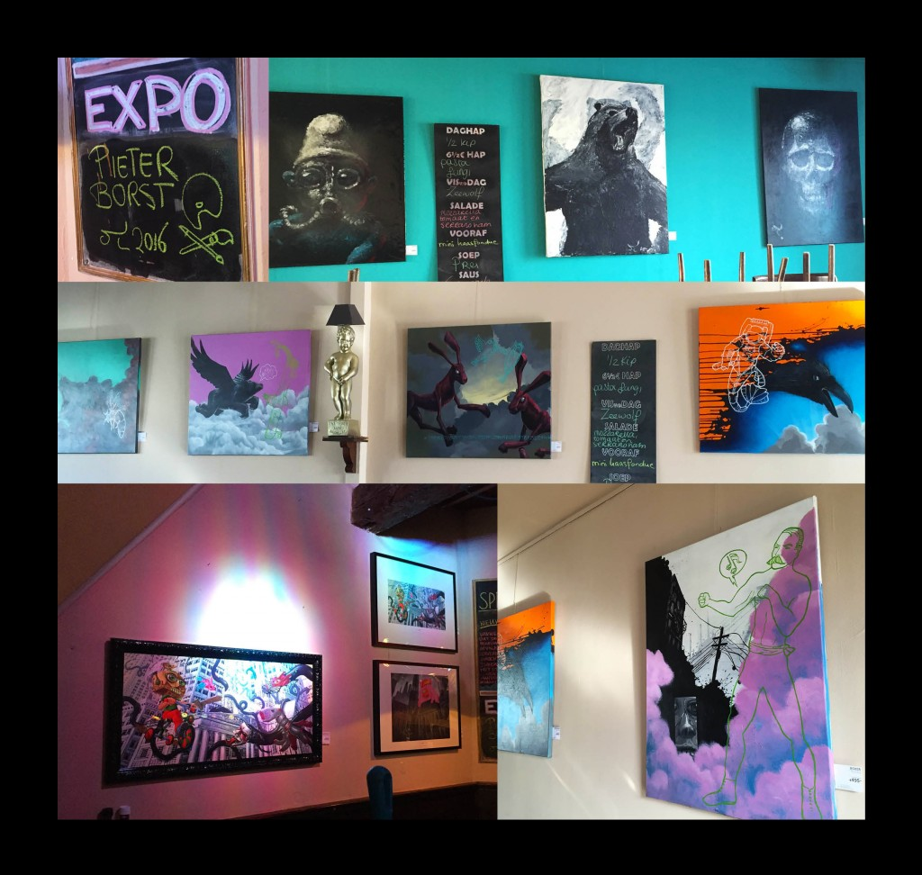 Expo Eetcafe Bruxelles in Haarlem, Giclee Prints en Artworks.